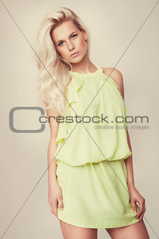 attractive fashion blonde girl