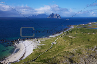 Beach on Lofoten islands