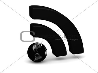 Black WiFi symbol