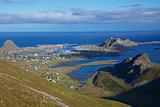 Scenic norwegian town