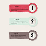 Set of colourfull infographics options banners