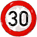 speed limit thirty