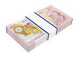 English money isolated on white.