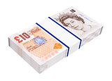 English money isolated on white.