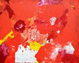 Orange and Yellow Abstract Art Painting
