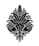 Classic damask floral pattern. Vector.