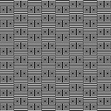 Seamless geometric texture. Striped pattern with square elements