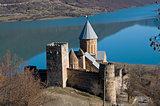 castle on blue lake