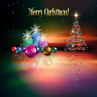 Abstract celebration background with Christmas tree
