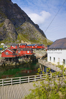 Fishing huts in Norway