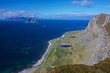 Scenic norwegian coast