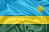 The flag of Rwanda
