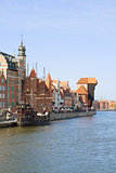 Old town over water, Gdansk