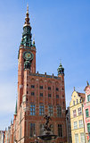 facade of town hall of Gdansk