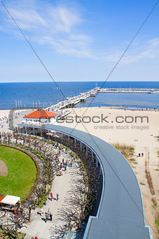 old pier (Molo) of Sopot