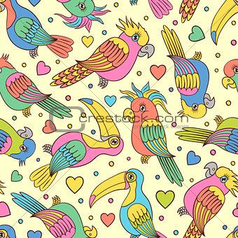 toucans and parrots