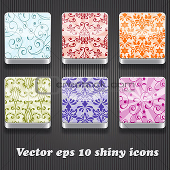 6 Vector  Shiny Icons