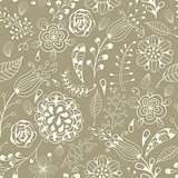 Vector Seamless Floral Summer  Pattern
