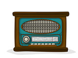 Retro cartoon radio