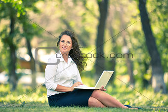 Businesswoman outdoor