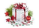 Gift box and christmas decor