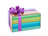 Colorful gift box with ribbon and bow