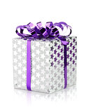 Christmas gift box with ribbon