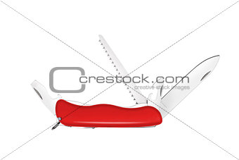All Purpose Red Swiss Knife