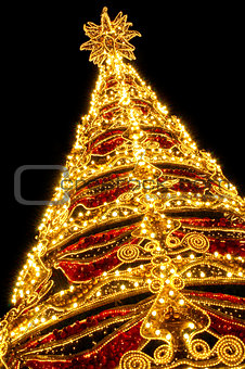 Beautiful shining abstract christmas trees
