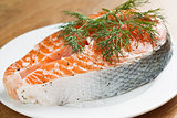 Salmon with dill and sea salt