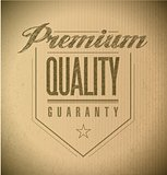 premium quality seal banner illustration