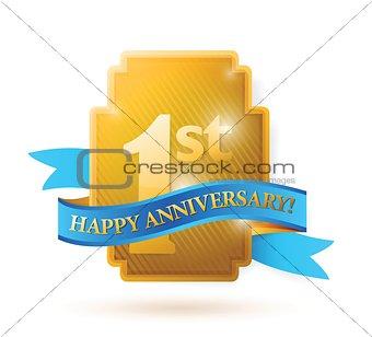 first years anniversary shield.