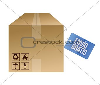 Free shipping tag in spanish illustration