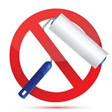 paint roller with stop sign illustration