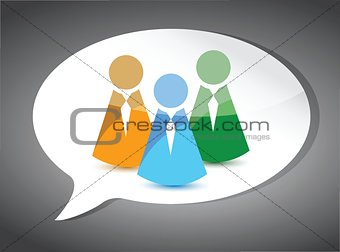business team On Speech Bubble. illustration