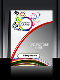 abstract summer flayer design