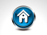 abstract blue glossy home button