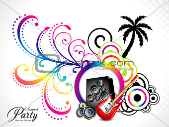 abstract colorful muscial background