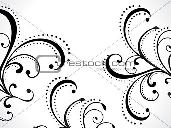 abstract floral background with curve