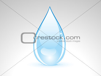 abstract glossy water drop