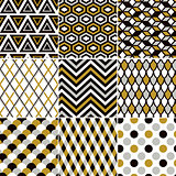 seamless gold geometric pattern