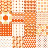 seamless circular polka dots
