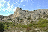 Landscape of a mountain valley in Crimea
