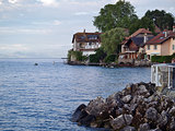 Picturesque vilage on Lake Geneva - Nernier in France