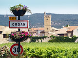 Orsan, french typical village