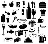 Kitchen and food icons