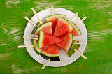 Cool watermelon dessert
