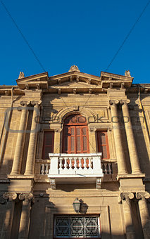 antique house exterior in old town of Nicosia