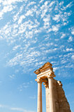 The Sanctuary of Apollo Hylates opposite blue sky