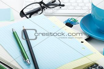Office supplies closeup